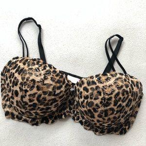 PINK Victoria's Secret Intimates & Sleepwear - Victoria's Secret PINK Date Push Up Bra Leopard